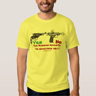 Russian roulette funny t-shirt design