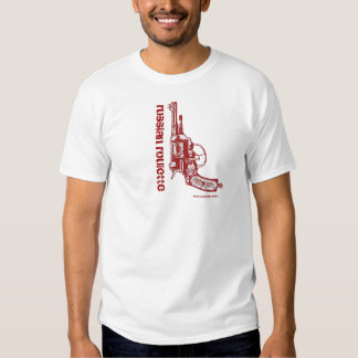Russian roulette graphic art funny t-shirt design
