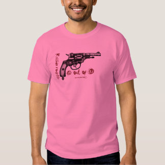 Russian roulette nagant revolver graphic t-shirt