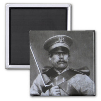 Russian soldier square magnet