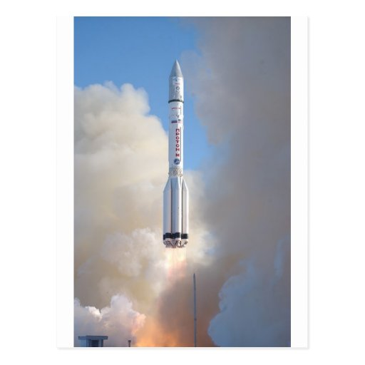 Russian Space Program Proton launch THOR 5 Post Cards