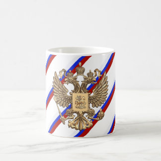 Russian stripes flag coffee mug