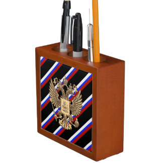 Russian stripes flag desk organiser
