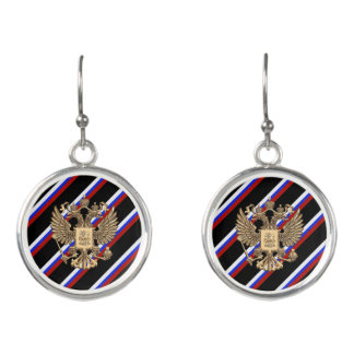Russian stripes flag earrings