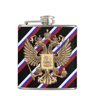 Russian stripes flag hip flask