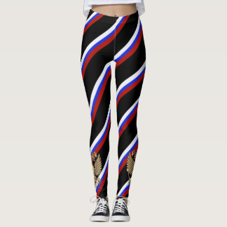 Russian stripes flag leggings