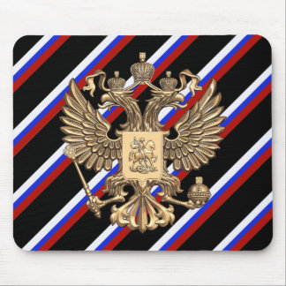 Russian stripes flag mouse pad