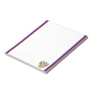 Russian stripes flag notepad