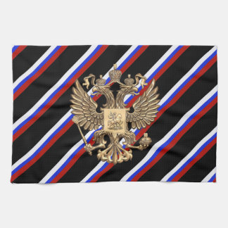 Russian stripes flag tea towel
