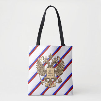 Russian stripes flag tote bag