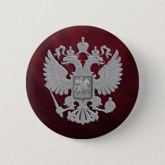 Russian symbol red flag 6 cm round badge