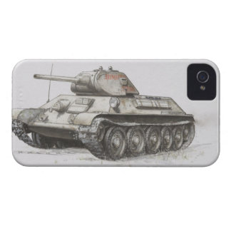 Russian T-34 army tank, side view. iPhone 4 Case