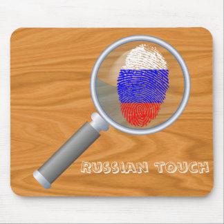 Russian touch fingerprint flag mouse pad