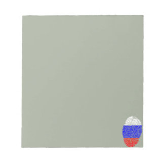 Russian touch fingerprint flag notepads
