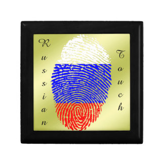 Russian touch fingerprint flag small square gift box