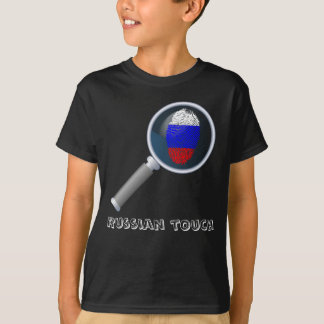 Russian touch fingerprint flag T-Shirt