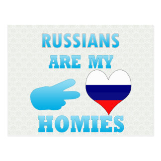 Russians are my Homies Post Card