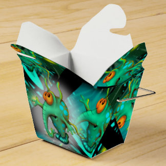 RUSSS ALIEN CARTOON Take Out Favor Box