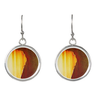 Rust Abstract Pattern Earrings