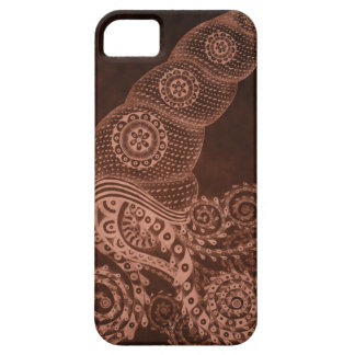 Rust Abstract Squid Barely There iPhone 5 Case