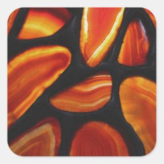 Rust Agate Square Sticker