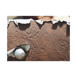 Rust and chrome canvas print