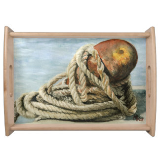 Rust and Ropes Serving Tray