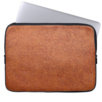 RUST COLORED STUCCO LAPTOP SLEEVE