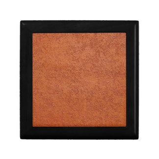 RUST COLORED STUCCO SMALL SQUARE GIFT BOX