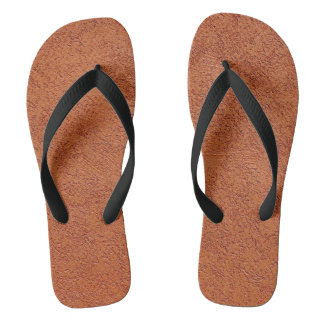 RUST COLORED STUCCO THONGS