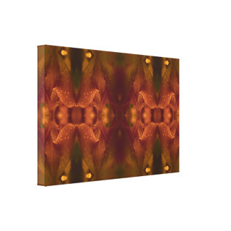 Rust Copper Green Yellow Abstract Tulip Canvas Print