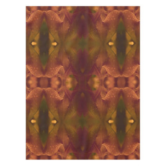 Rust Copper Green Yellow Abstract Tulip Tablecloth