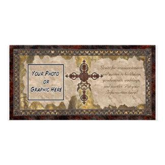 Rust Cross Photo Card