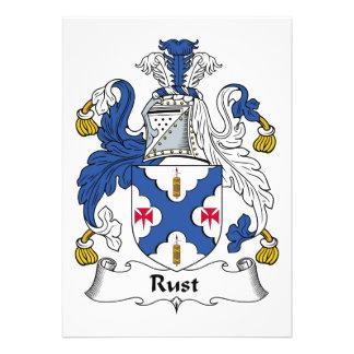Rust Family Crest Custom Invites