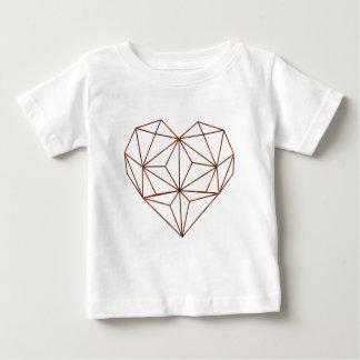 rust-geometric heart design baby T-Shirt