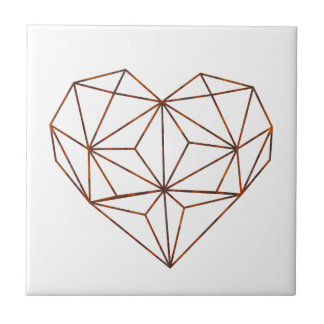 rust-geometric heart design tile