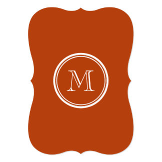Rust High End Colored Monogram Initial 13 Cm X 18 Cm Invitation Card