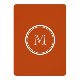 Rust High End Colored Monogram Initial 14 Cm X 19 Cm Invitation Card