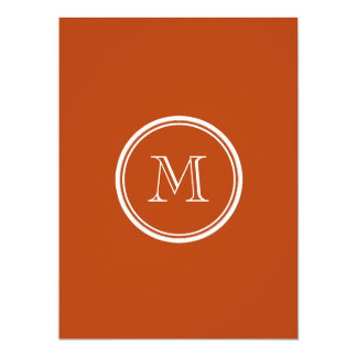 Rust High End Colored Monogram Initial 17 Cm X 22 Cm Invitation Card