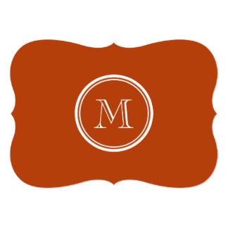 Rust High End Colored Monogram Initial Announcements