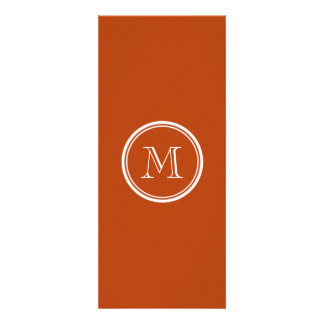 Rust High End Colored Monogram Initial Personalized Invite