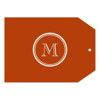Rust High End Colored Monogram Initial 13 Cm X 18 Cm Invitation Card
