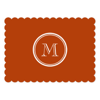 Rust High End Colored Monogram Initial 5x7 Paper Invitation Card
