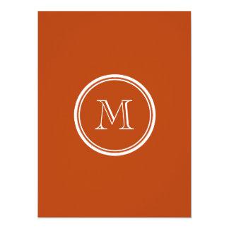 Rust High End Colored Monogram Initial 17 Cm X 22 Cm Invitation Card