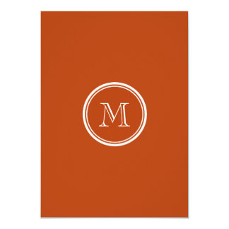 Rust High End Colored Monogram Initial Personalized Invitations