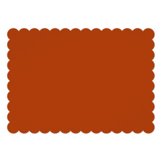 Rust High Quality Colored Personalized Invitation