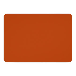 """Rust High Quality Colored 5"""" X 7"""" Invitation Card"""