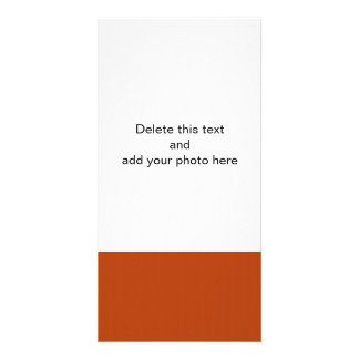 Rust High Quality Colored Customized Photo Card