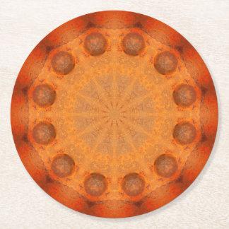 Rust-Mandala, Colors of Rust_744_R_1.f.2 Round Paper Coaster