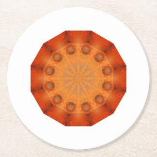Rust-Mandala, Colors of Rust_744_R_1.f Round Paper Coaster